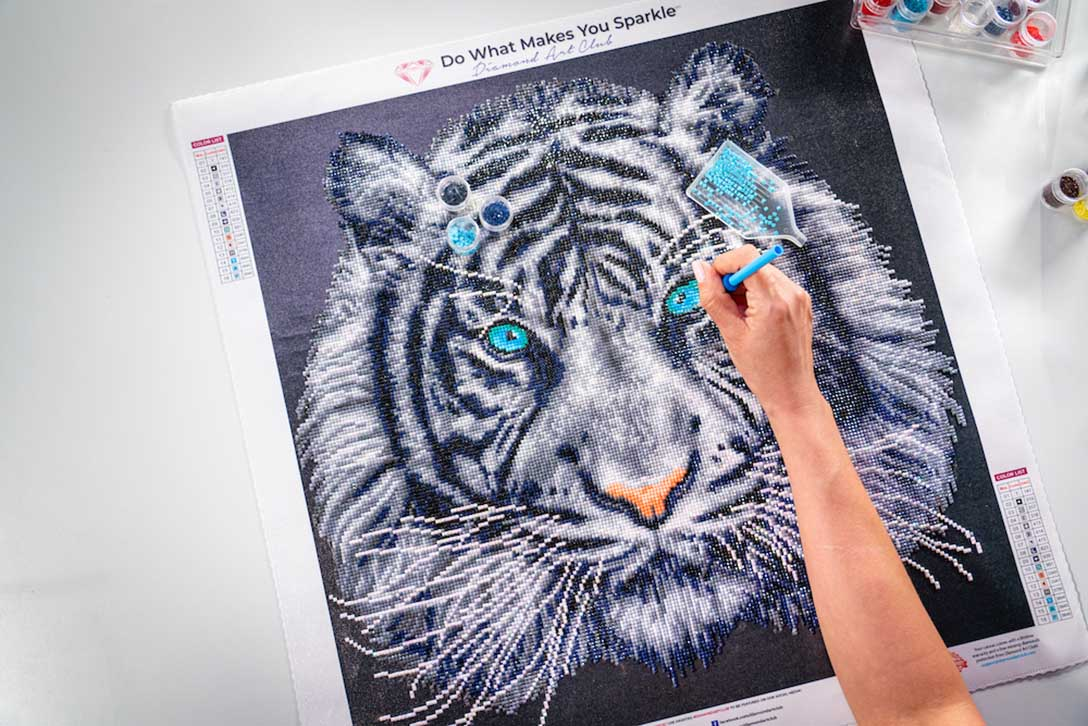 diamond painting tiger face