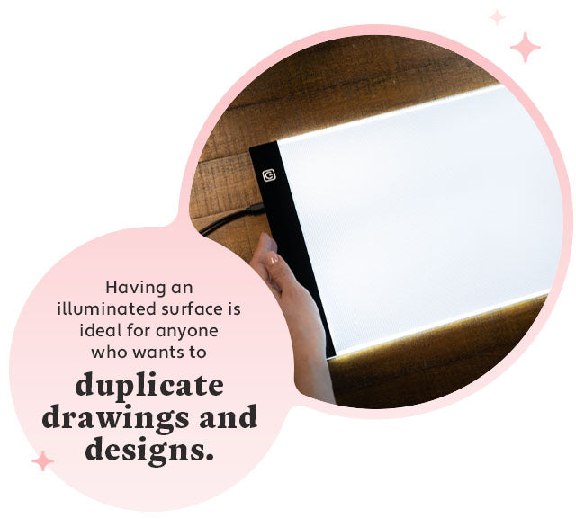 duplicate drawings illuminated on a surface