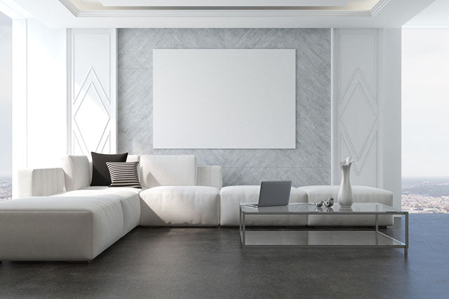 interior gray minimal living room