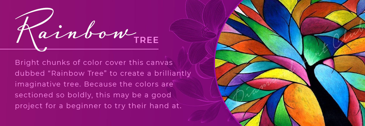 rainbow tree diamond kit graphic