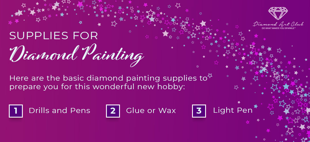 supplies for diamond painting graphic