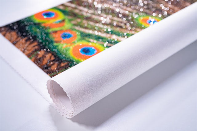 unrolling diamond art canvas