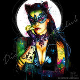 Diamond Painting Cat Woman Round With Aurora Borealis Accents / 16.5″ x 16.5″ (42cm x 42cm) / 30 Colors Including 1 AB