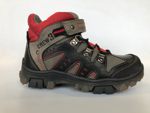 Beeko Lisbon Black, Tan & Red Hiker Boot