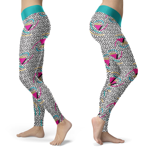 Abstract Memphis Style Leggings