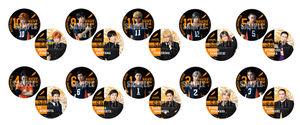 Haikyuu!! - Saikyō no Team Goods - Can Badge (Random)