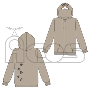 [Pre-order] Haikyuu!! - Karasuno vs Shiratorizawa High School Bokuto Owl Parka