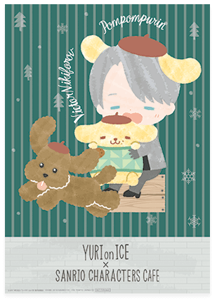 Yuri!!! on Ice - Sanrio Collaboration Cafe - Original Clear Poster - Victor Nikiforov