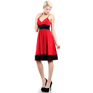 Evanese Women's Fashion Color Blocking Jersey Casual Cocktail Party Dress
