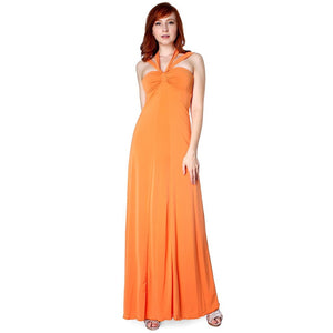 Evanese Women's Elegant Cross Tie Halter Long Formal Party Dress