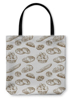 Tote Bag, Bread Pattern