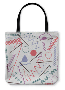 Tote Bag, Illustration Of Sewing Equipment