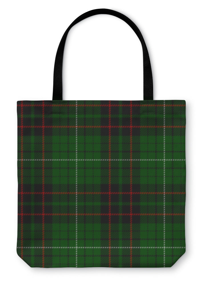Tote Bag, Tartan Plaid Pattern