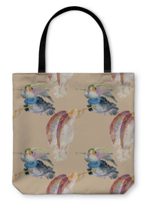 Tote Bag, Beautiful Angels With Wings Pattern