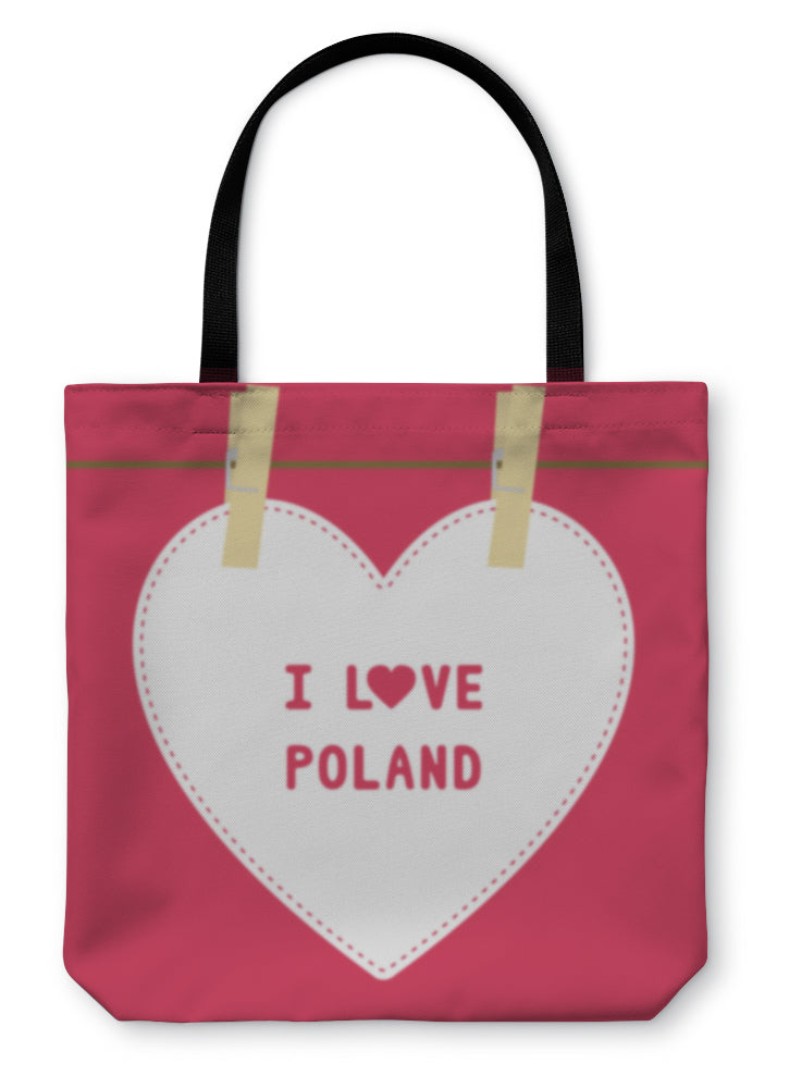 Tote Bag, I Love Poland5