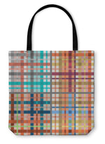 Tote Bag, Set Of Tartan Patterns