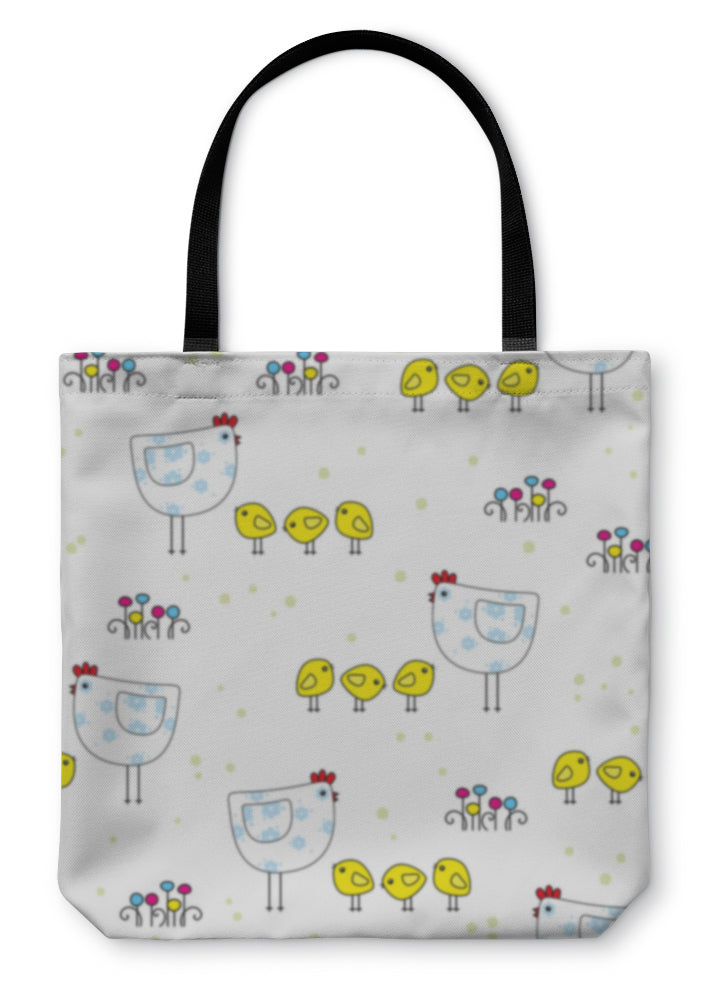 Tote Bag, Easter Pattern
