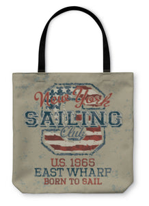 Tote Bag, Vintage Sailing Club
