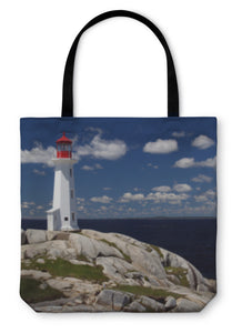 Tote Bag, Peggys Cove Lighthouse