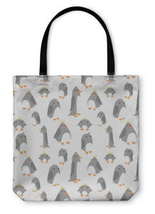 Tote Bag, Pattern With Cute Penguins