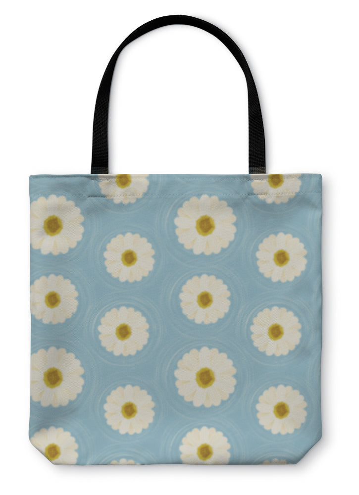 Tote Bag, Daisies Flowers Floral Pattern