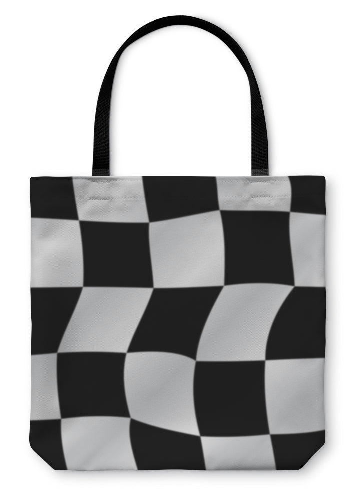 Tote Bag, Checkered Flag