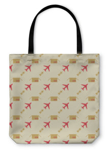 Tote Bag, Plane And Sending Pattern