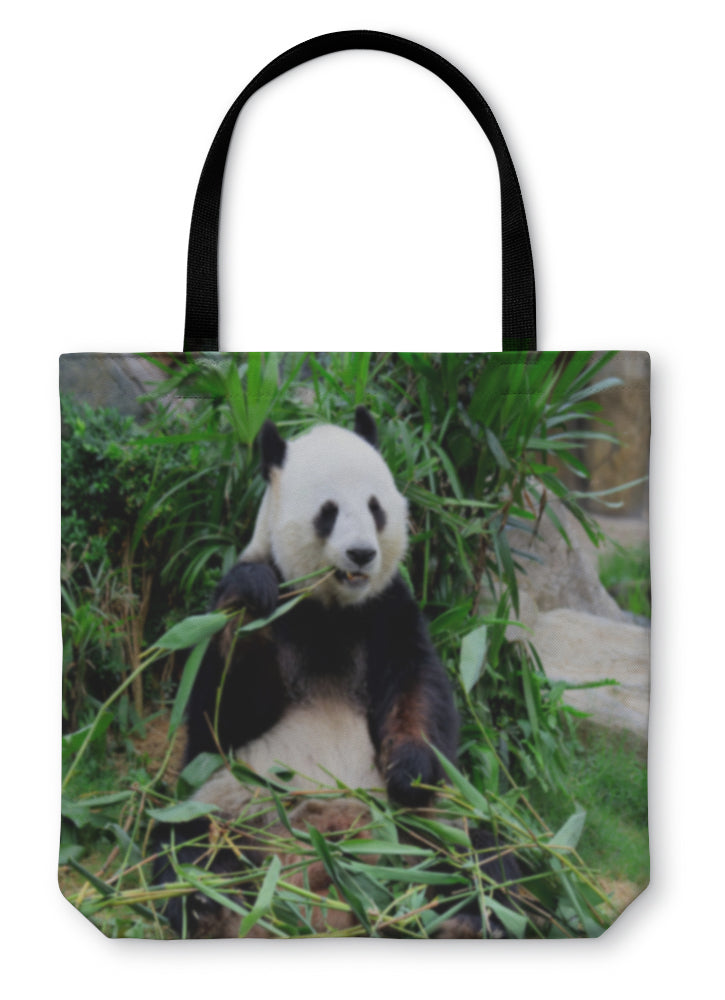Tote Bag, Giant Panda Eating Bamboo