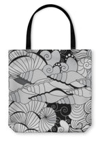 Tote Bag, Seashell Pattern Sea Design