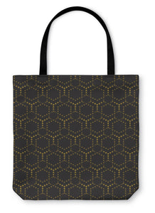 Tote Bag, Abstract Geometric Art Deco Pattern