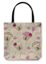 Tote Bag, Cupcake Pattern