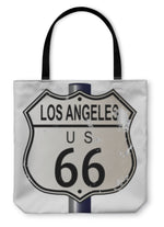 Tote Bag, Los Angeles Route 66 Sign