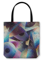 Tote Bag, Abstract Geometric Pattern In Cubism Style