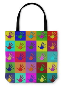 Tote Bag, Warhol Hands
