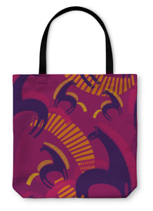 Tote Bag, Pattern With Horses