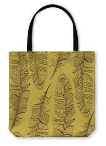 Tote Bag, Pattern Of Bird Feathers