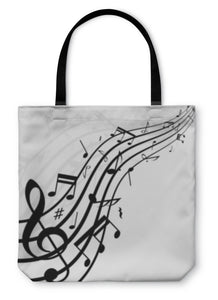 Tote Bag, Music Notes