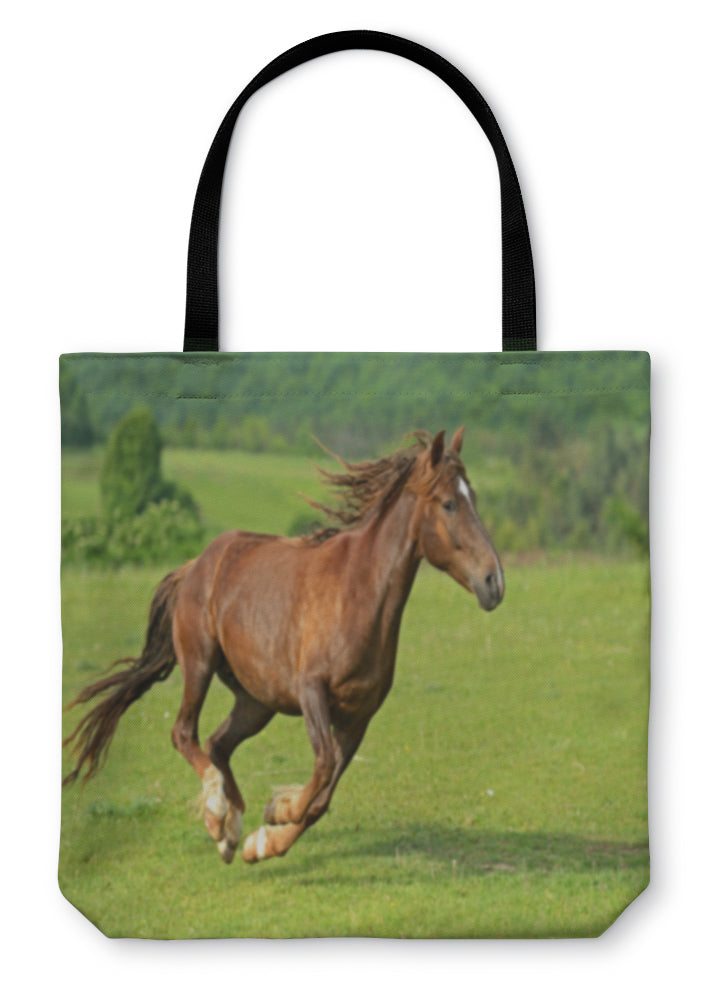 Tote Bag, Horse Hurrying At A Gallop