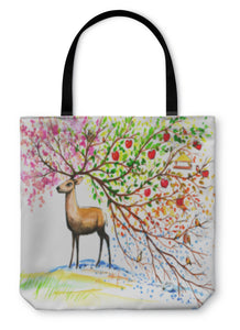 Tote Bag, Abstract Deer