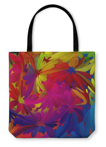 Tote Bag, Multicolored Watercolor Painting
