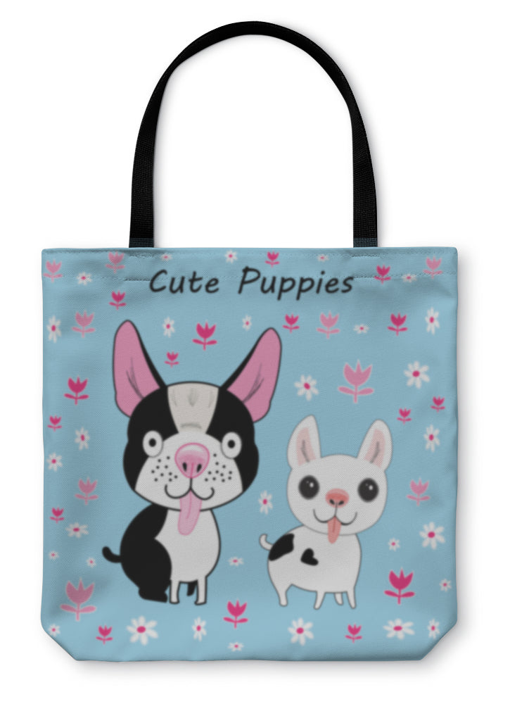 Tote Bag, Funny Little Dogs
