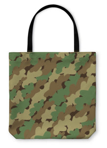 Tote Bag, Camouflage Pattern