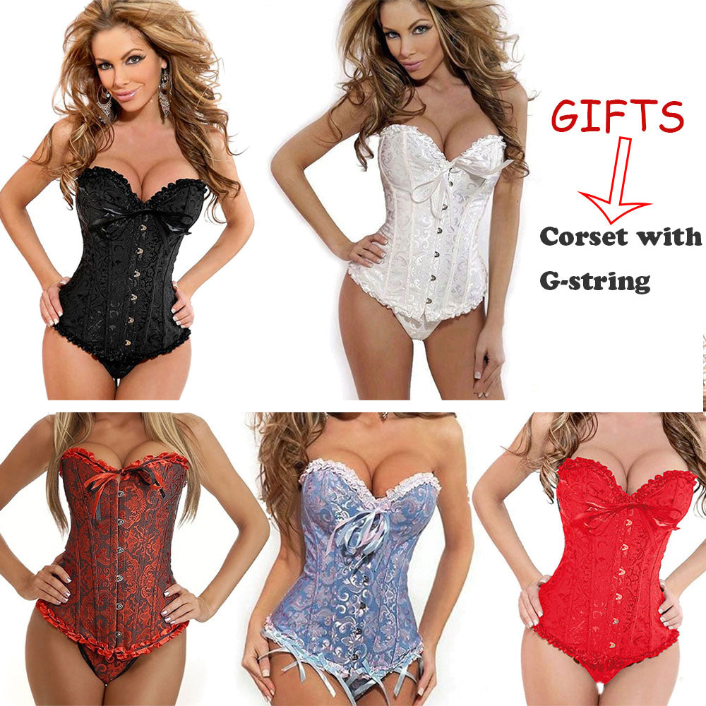 98d5e7a087 Sexy Corsets And Bustiers Lace Up Boned Overbust Costume Steampunk Waist  Corset Dress Body Trainer Shapewear