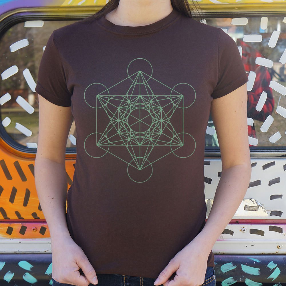 Metatron's Cube Diagram T-Shirt (Ladies)