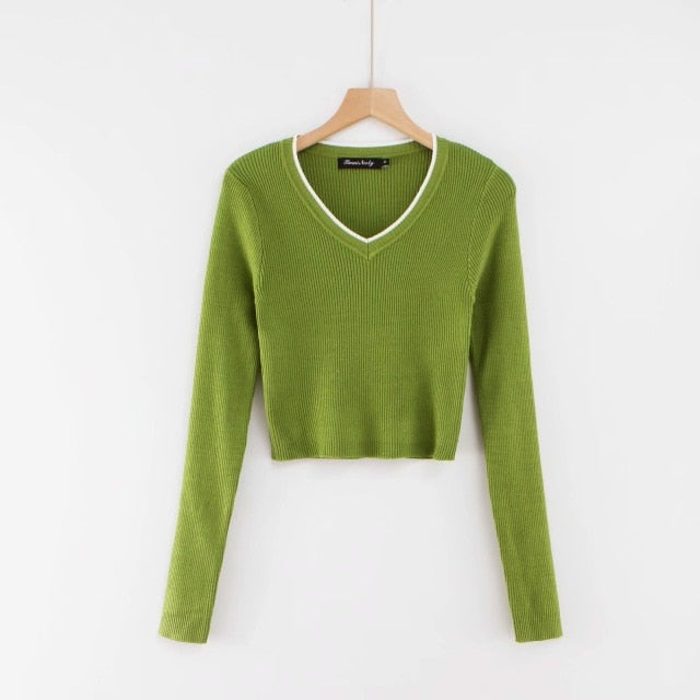 Fall 2020 crop sweater kawaii cute sweaters knitted sweater pink women winter clothes women pullover sweater sexy tops