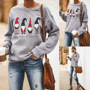 Women Christmas Sweater Plus Size Winter Clothes Santa Claus Print Luxury Designer Sweater Jumper Pullover pull autumn winter