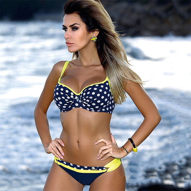 YICN Sexy Print Swimwear Women Bikini Set 2018 New Push Up biquini Female Swimsuit Brazilian Bathing Suit bathers Beach Swimming