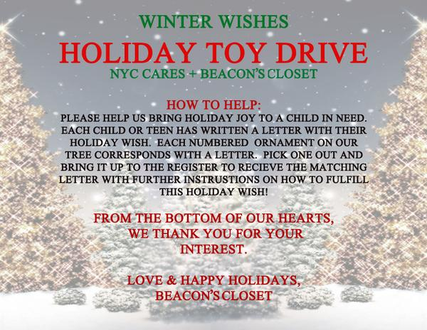winter wishes holiday toy drive