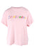 zimmerman pink logo tee. features classic cut t-shirt with short sleeves.