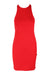 description: the phluid project red bodycon dress. original tags attched. featuring racerback straps.